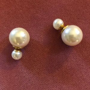 Dior double stud earrings